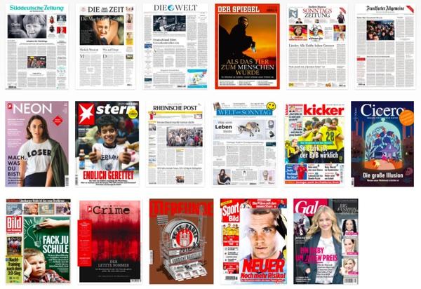 5cd6f45668c627 Die Liste der beteiligten Medien ist eindrucksvoll  Über 100 Titel sind  dabei