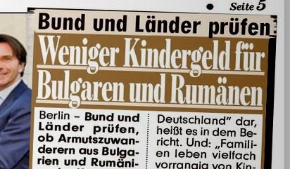 Bund und Länder prüfen: Weniger Kindergeld für Bulgaren und Rumänen.