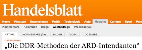 Die DDR-Methoden der ARD-Intendanten