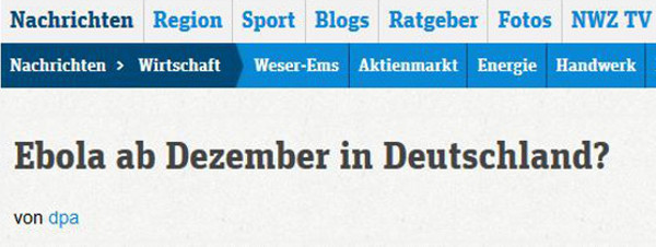 Screenshot NWZ Online 10.11.2014