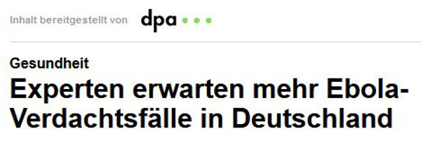 Focus.de Screenshot dpa-Meldung 10.11.20144