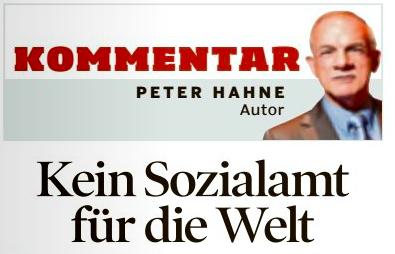 "Ausriss Kommentar ""Bild am Sonntag"" 8.2.2015"
