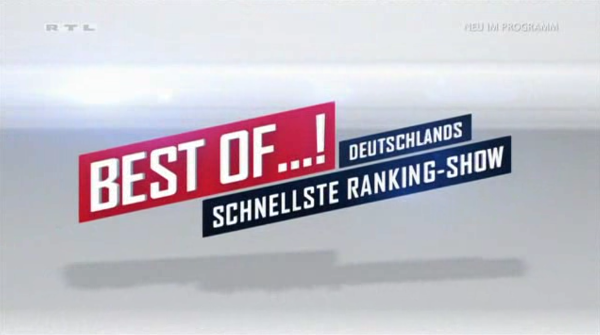 "Titel ""Best of...! Deutschlands schnellste Rankingsshow"" Screenshot (RTL)"