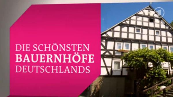 """Titelgraphik """"Die schönsten Bauernhöfe Deutschlands"""" (ARD)"""