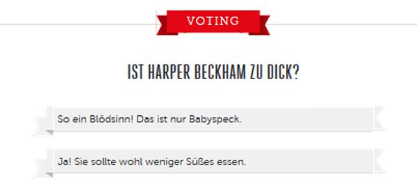 Voting auf Bunte.de