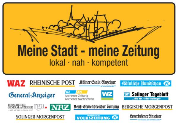 Kampagnen-Logo 'Meine Stadt - meine Zeitung'